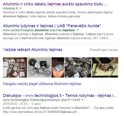 aliuminio liejimas