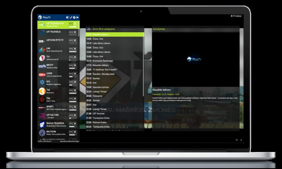 pliusTV internete laptop